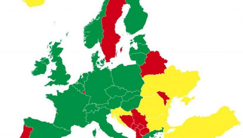 seznam držav s karanteno