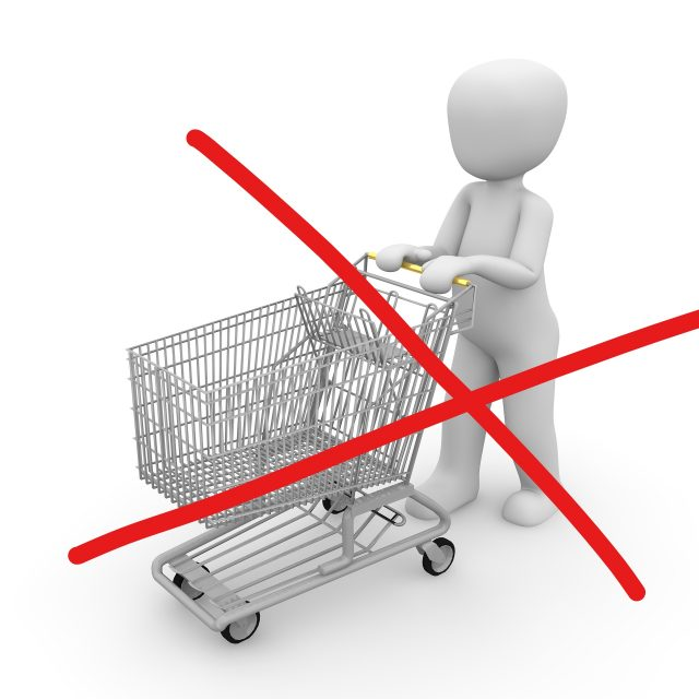 Prepoved opravljanja storitev in prodaje blaga potrošnikom